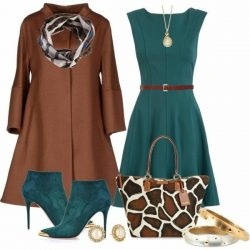Turquoise and brown with giraffe print