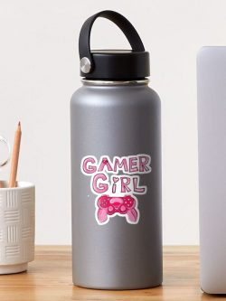Gamer Girl water bottle