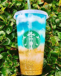 Beach Starbucks cup