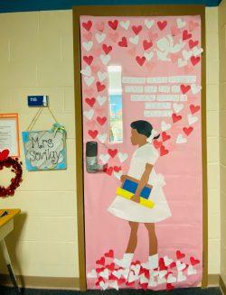 February teacher door