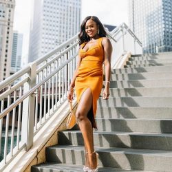 pretty orange dress | Jenn Ibe