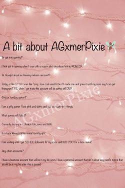 A bit about AGxmerPixie read description!!