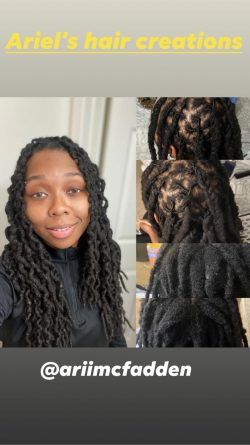 Before and after retwist and style