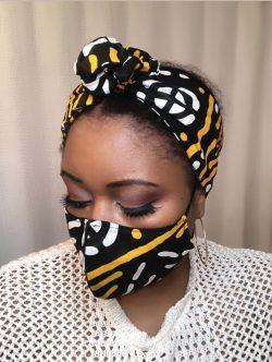 Matching Ankara Headwrap & Mask!