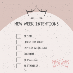 New Week Intentions