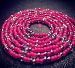 Waistbeads – hot pink loveliness for your waist