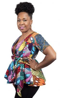 Goal Getter African Print Wrap Top By Waxandwonder.com