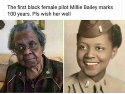 FIRST BLACK. FEMALE. PILOT!