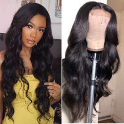 Body Wave Wig 250% Density Lace Front Human Hair Wigs