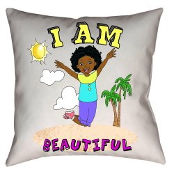 I Am Beautiful Double Sided Throw Pillow,