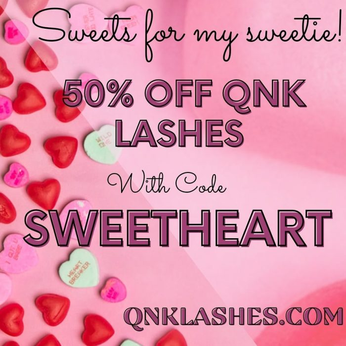 QNK Lashes Valentines Day Sale 50% OFF with code SWEETHEART