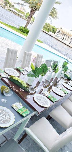 Versace Jungle Tablescape Green Decor