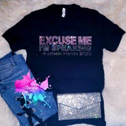 Excuse Me, I'm Speaking Kamala Harris Crystal Shirt