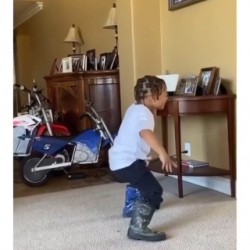 """Lil' man contributing to the latest trend …Lol Ready To Get It Started! """"Jun B ..."""