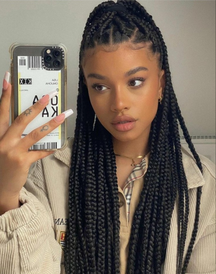 My mom want s to braid my hair like this, and she's really good at it to