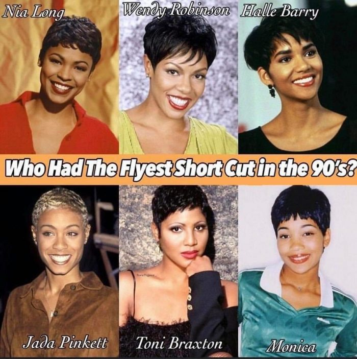 They all wore their short hair very well, but It's Nia Long for me