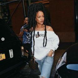 Did Riri do the thang with these braids or what? (1)