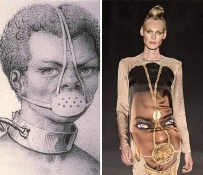 European Model of Brazilian nationality, Shirley Mallman, happily sashays the racist design of B ...