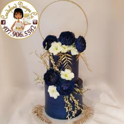 Midnight blue wedding cake