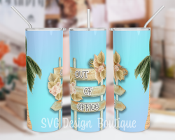 Out of Office Skinny Tumbler Wrap