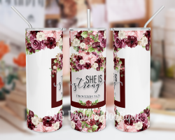 Proverbs 31:25 Tumbler Sublimation Design