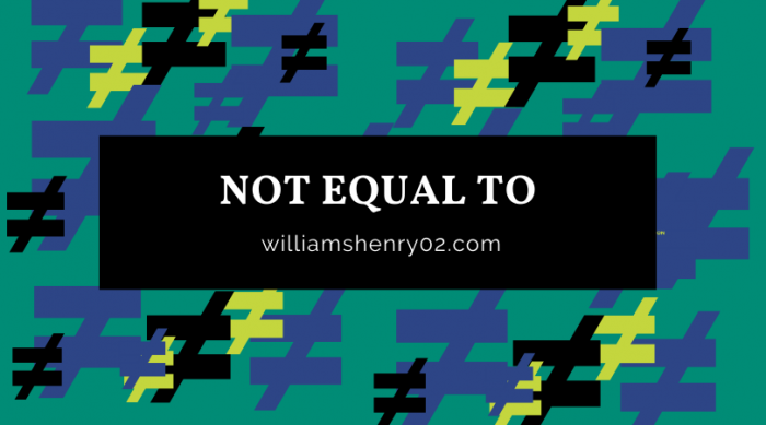 Not EQUAL To