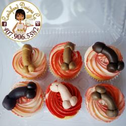 Bachelorette Party Penis Cupcakes