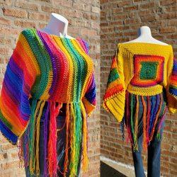 Rainbow Pullover – KnottyLoop