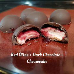Red Wine Cheesecake Bites