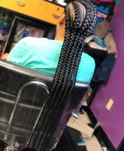 Feed-in braids.