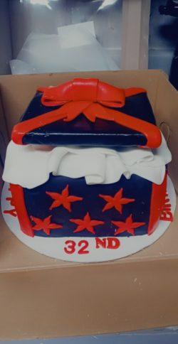 Gift box cake!!