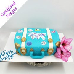 Travel Suitcase Retirement Cake