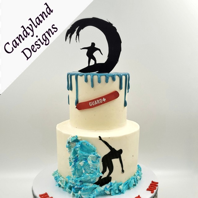 Surfer Beach Cake