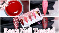 Easy Roses Nail Art Design | Glamorousnails.And.Beauty | Nail Art 2021