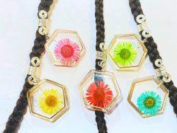 Resin Flower Dreadlock charm