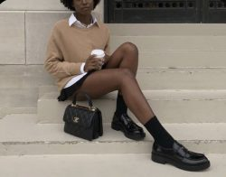 Coffe Aesthetic Afro out Preppy