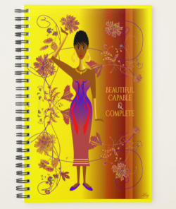BLACK QUEEN – BEAUTIFUL, CAPABLE & COMPLETE – JOURNAL PLANNER by Livz Design