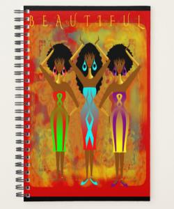 AFROCENTRIC SPIRAL JOURNAL NOTEBOOK – by Livz Design