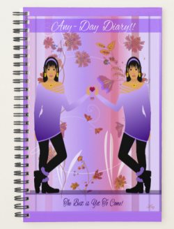 ANY -DAY PLANNER DIARY in LAVENDER by Livz Design