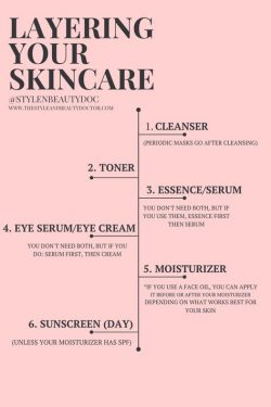 How to Layer Your Skincare : The Order to Apply Your Products