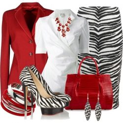 Red and zebra print