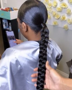 🤍braided ponytail🤍