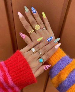 Cute nails like mine I'm joking my nails ugly 