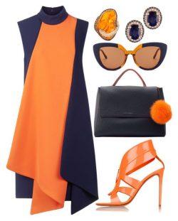 Navy & Orange