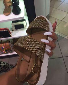 sparkly platform sandals