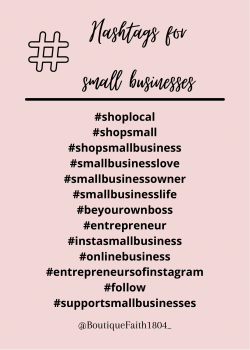 Small businesses | Hashtags