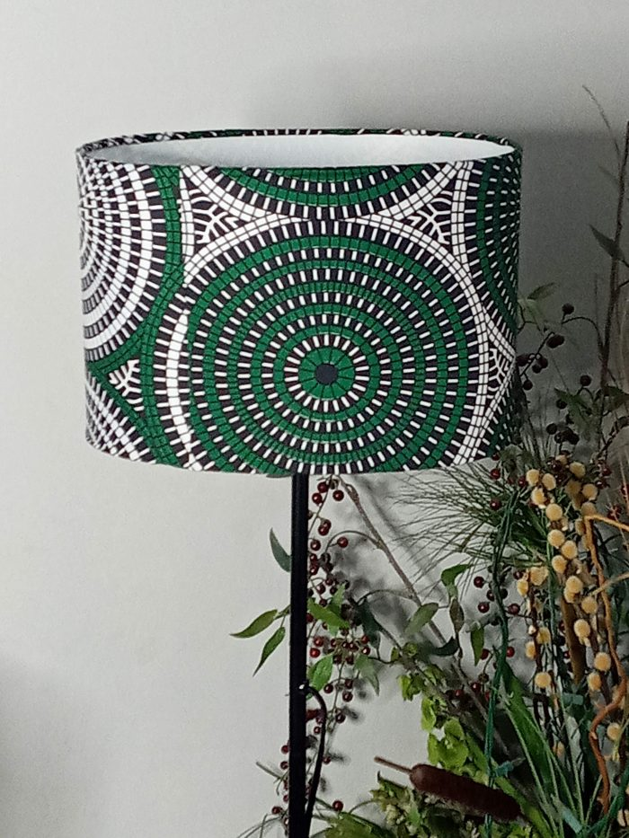 Forest Green African Print 30cm Oval Lampshade