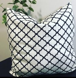 Gorgeous Black White Pillow