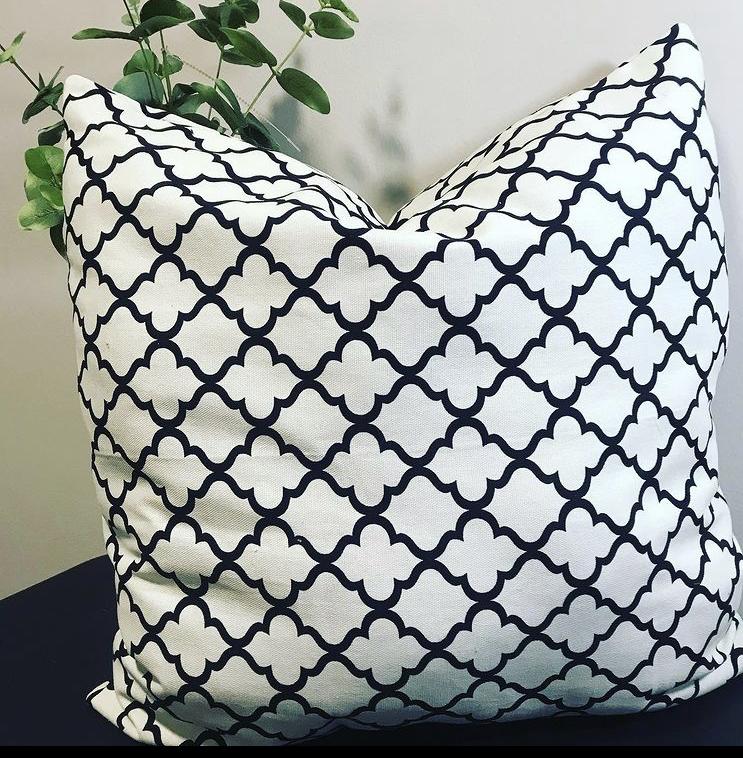 Gorgeous Black White Pillow
