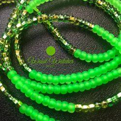 Neon green waist beads